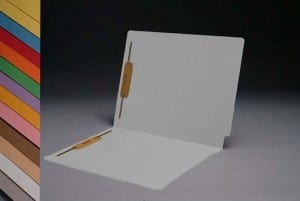 S-1502-W White End Tab Folders with Fasteners