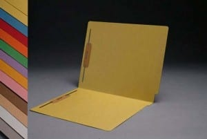 S-1502-YEL Yellow End Tab Folders with Fasteners